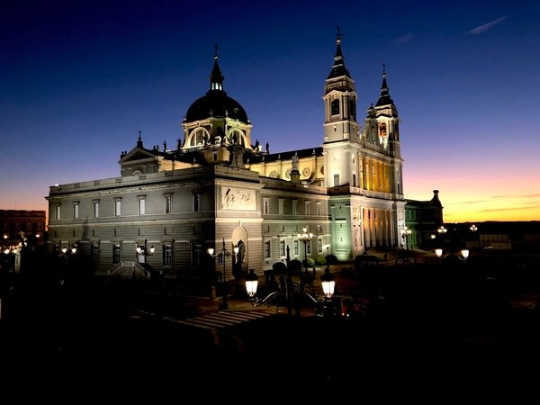The Almudena Cathedral is a stunning addition to your self-guided tapas tour of Madrid.