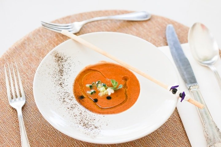 Roasted Vegetable Gazpacho Recipe