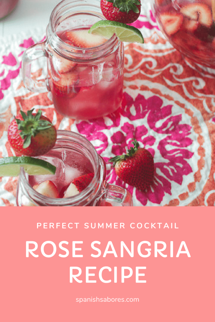 A delicious and refreshing rose sangria recipe.