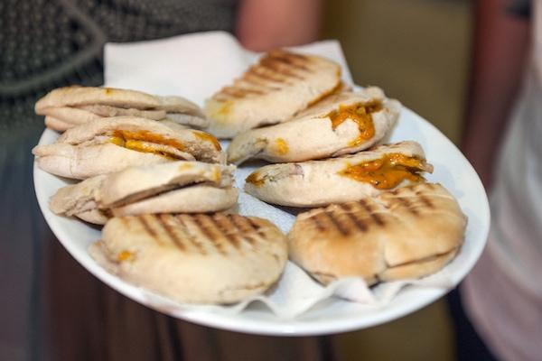self guided tapas tour Seville - montadito sandwiches