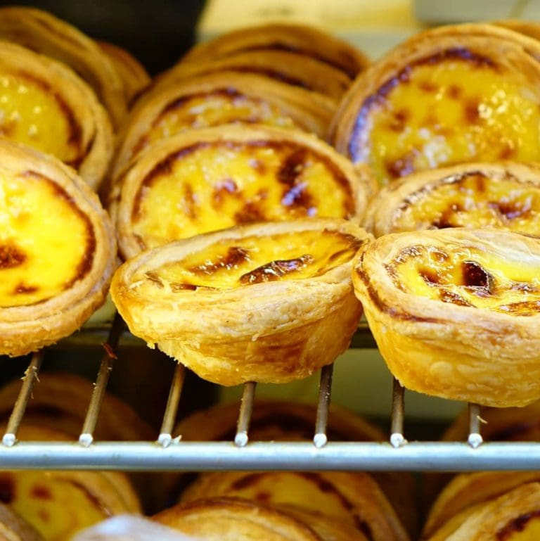 custard tarts in Portugal