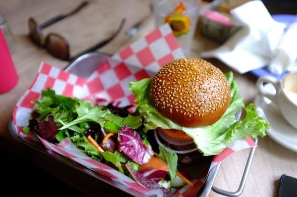 vegetarian Madrid - veggie burger