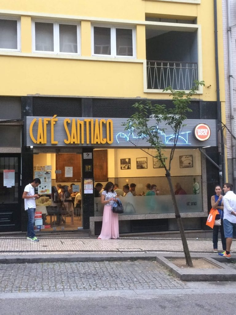Café Santiago is one of the best places to try a Francesinha, one of Portugal's most famous dishes.