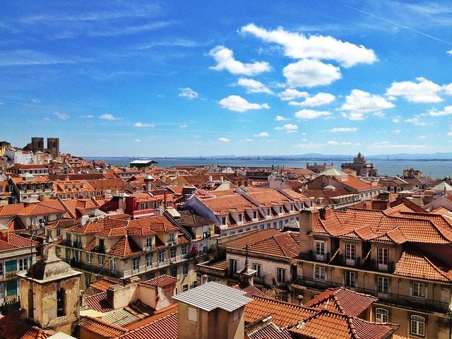 Views from the Chiado neighborhood of Lisbon