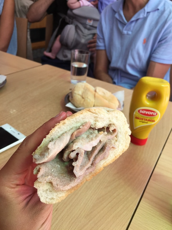 The city's best bifana on a food tour in Lisbon.