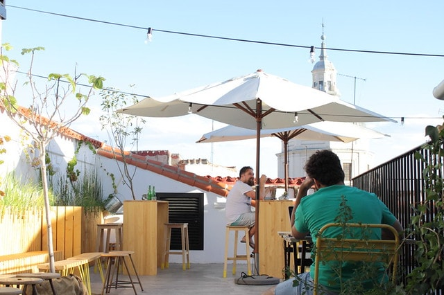 Rooftop at Hat Hostel Madrid - best hostels in Madrid