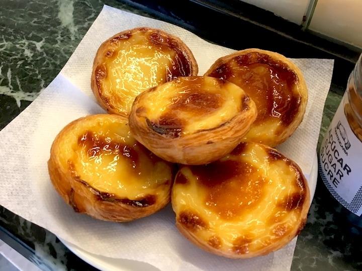 Pastéis de nata from Manteigaria in Lisbon's Chiado neighborhood.