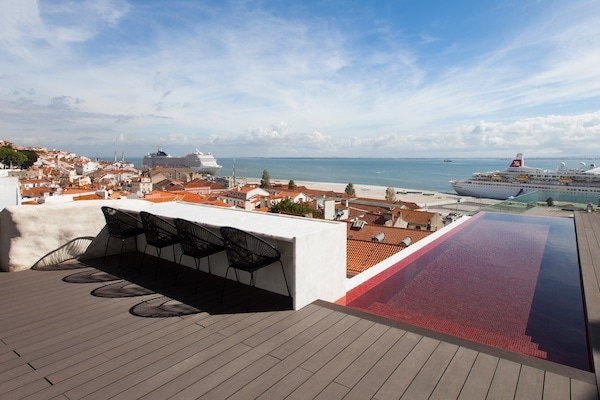 Memmo Alfama is one of the best places to stay in Lisbon, with a great rooftop (pictured).