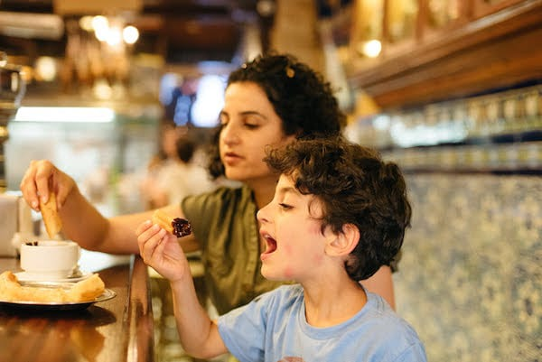 When visiting Seville with kids, you definitely need to take them out for churros!