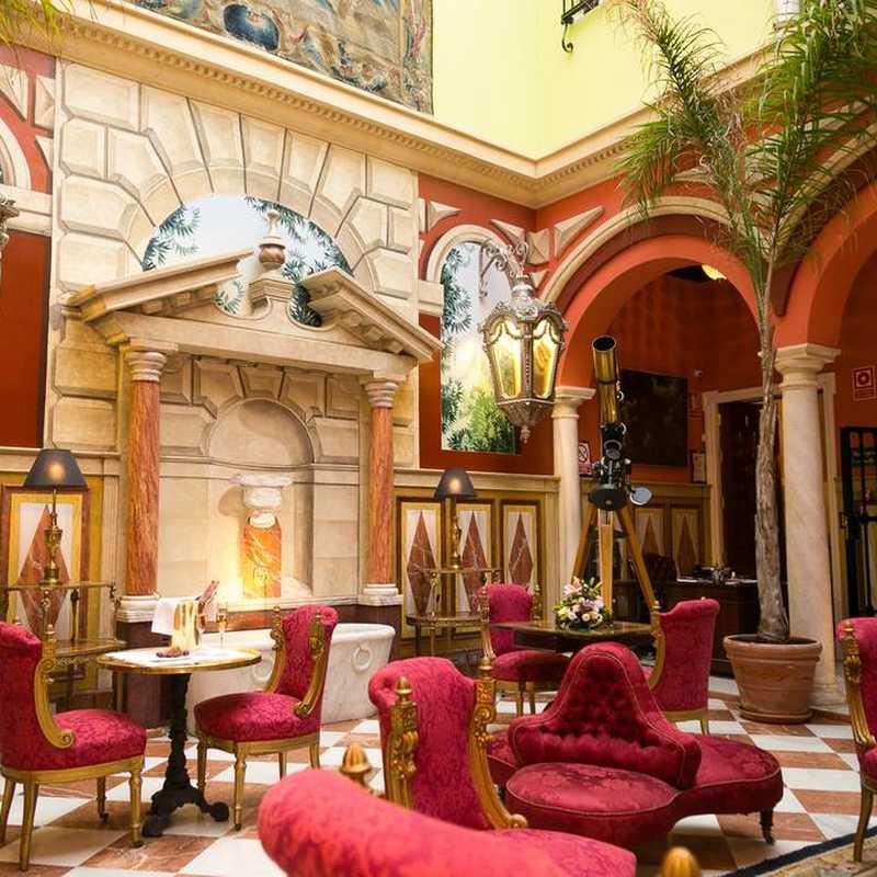 interior of the Ateneo Boutique Hotel in Seville.