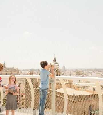 Seville with kids - top of the Setas monument