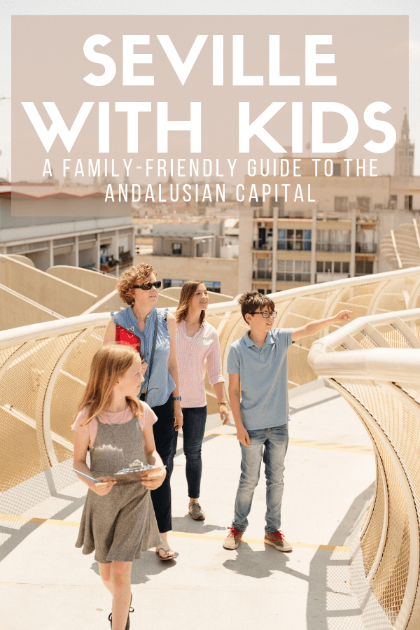 If you're not sure what to do in Seville with kids, you're spoiled for choice! The magnificent architecture of the cathedral, Alcazar and Metropol Parasol will enchant them, and fashion-forward little ones will love the pretty dresses worn by flamenco dancers. This travel guide will help you and your family make the most of one of southern Spain's most beautiful cities. #Seville #familytravel