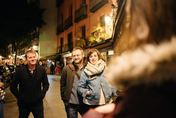 things to do in Madrid at night - group walking