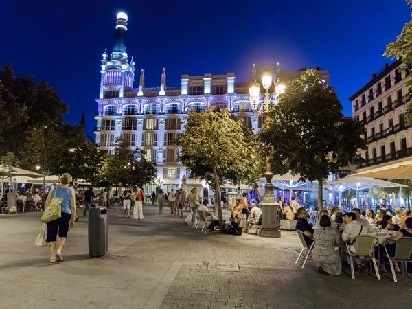 things to do in madrid at night - plaza santa ana