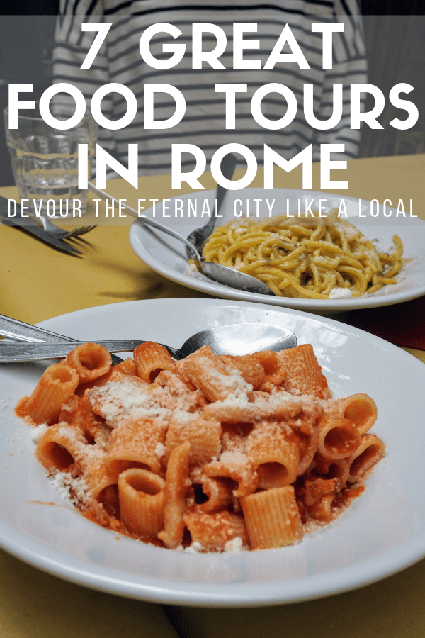 One of the best things to do in Rome: eat, of course! With so much delicious Italian food to go around (pizza! pasta! gelato!), narrowing down where to go and what to order can be tricky. This guide to the seven best food tours in Rome will give you some tips and tricks. From self-guided routes to small group experiences, there's something for everyone! #Rome #foodie
