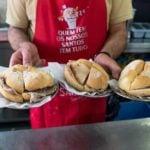 bifana sandwiches being served in Lisbon.