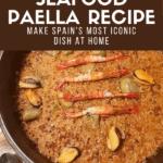 Authentic Seafood Paella Pinterest Image