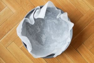 Lining a springform pan with parchment paper
