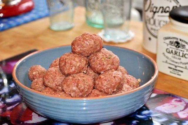 Spanish meatballs recipe with minced pork and chorizo