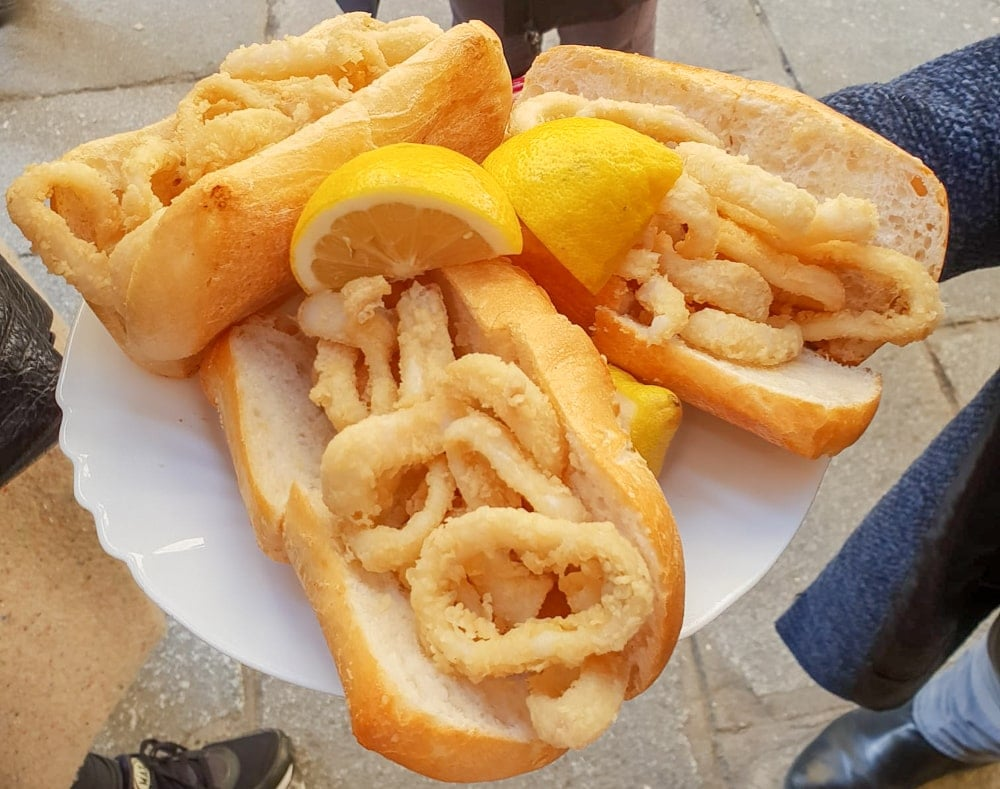 Calamari Sandwich in Madrid