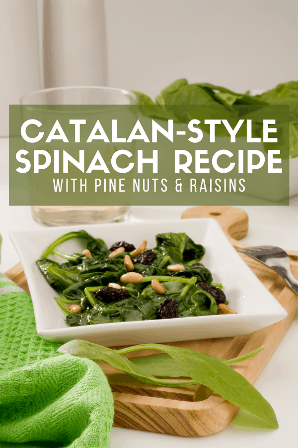 Spinach with pine nuts and raisins is one of the most typical recipes from Catalonia in northeastern Spain. Veggies are the star of the show in this easy, healthy dish—try it as a side or make it the star of your meal!