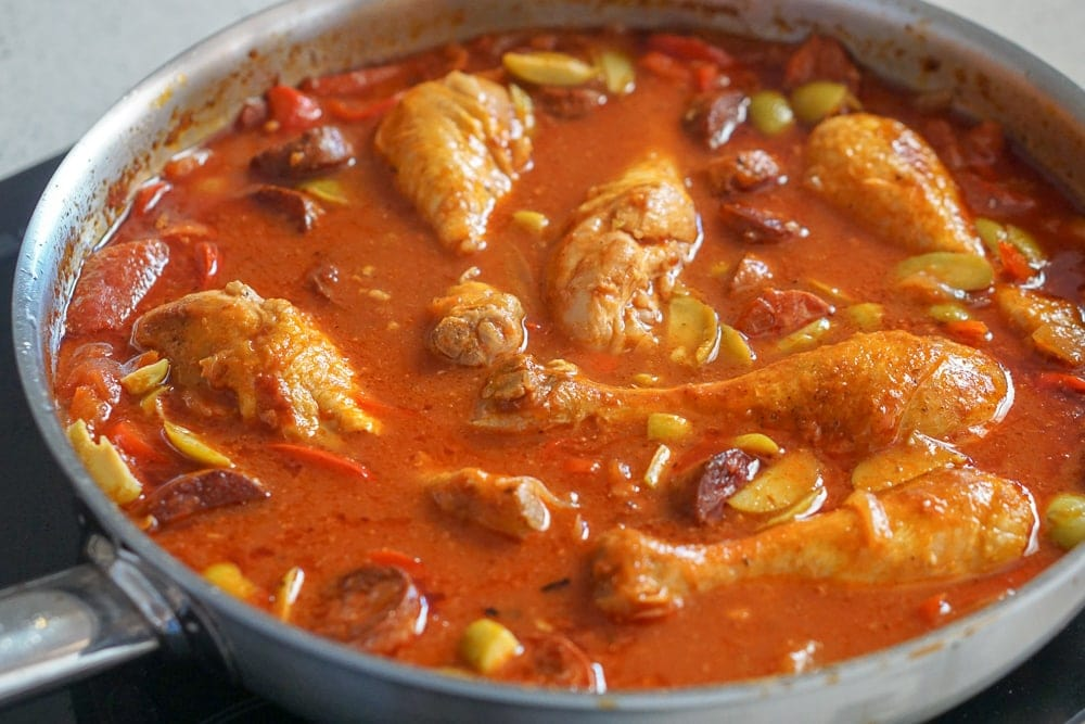Easy Spanish Chicken and Chorizo Stew Recipe