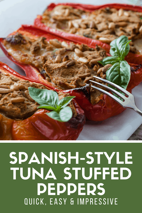 Need an easy and impressive typical Spanish recipe for a tapas party? You can't go wrong with these tuna stuffed piquillo peppers! They're quite healthy, with a good dose of veggies and seafood, and make the perfect appetizer or tapa when cooking for a crowd. The secret here is using excellent quality canned tuna, which is one of Spain's best-kept secrets when it comes to gourmet products!