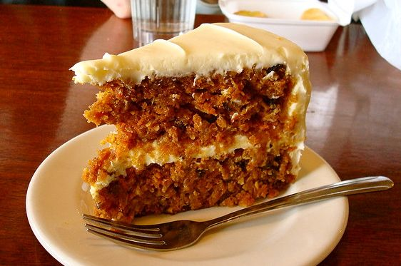 Mom's delicious carrot cake.
