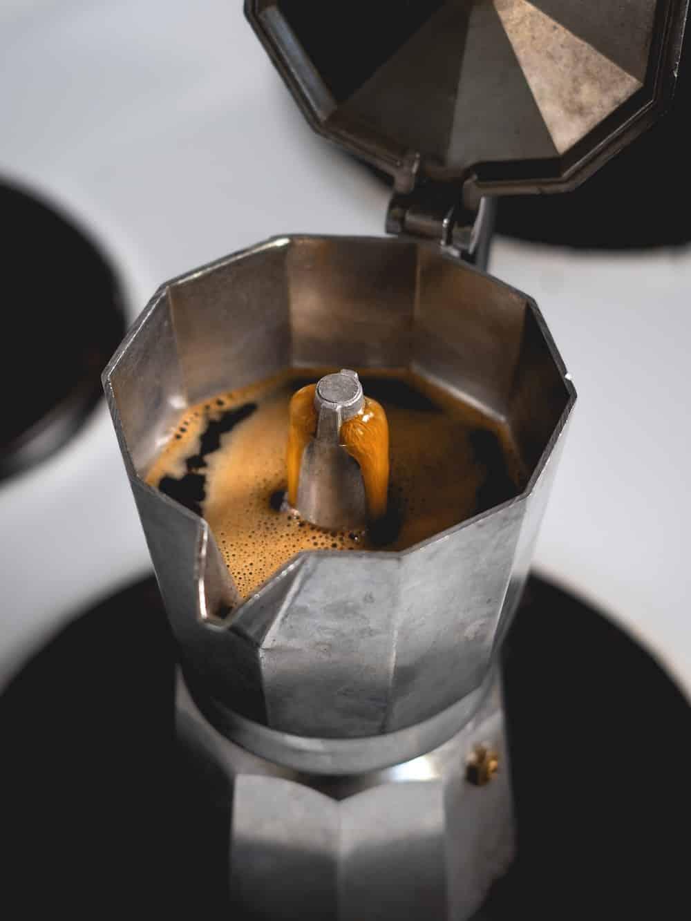 Spanish coffee maker opened