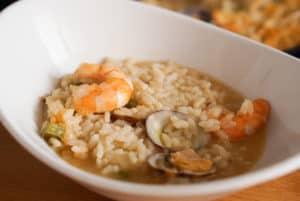 Bowl of seafood rice