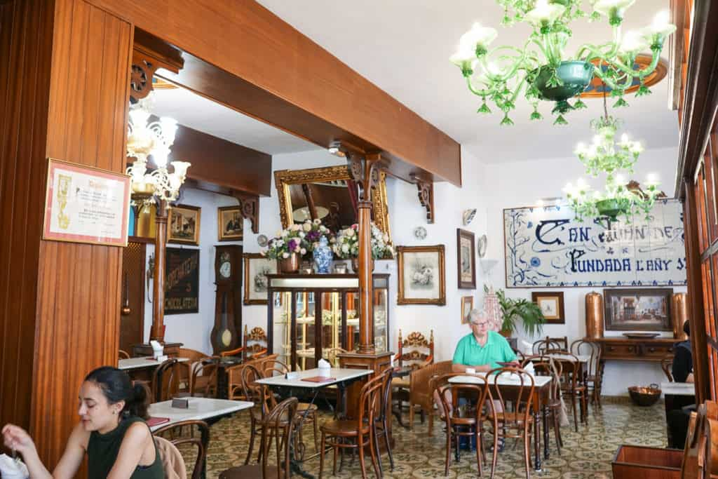 Ca'n Joan de s'Aigo pastry shop in Mallorca